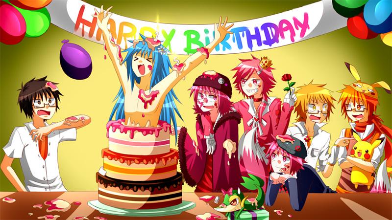 Открытки с днем рождения аниме мне